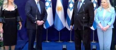 Alberto Fernández junto a Netanyahu: