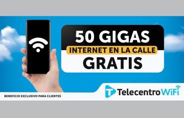 TELECENTRO: 50 GIGAS DE INTERNET GRATIS EN LA CALLE