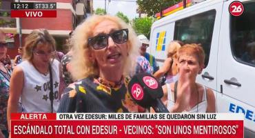 Otra vez Edesur: miles de familias se quedaron sin luz