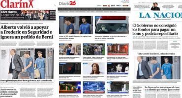 Tapas de diarios argentinos: liberaron a dos rugbiers por crimen en Villa Gesell