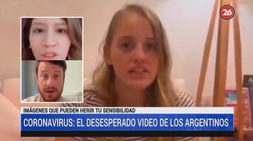 Argentinos con Coronavirus en China: video con mensaje desesperado por ser repatriados