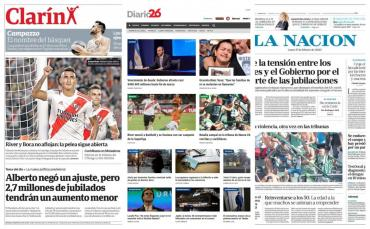 Tapas de diarios argentinos: River imparable en Superliga y habló madre de Fernando Báez Sosa