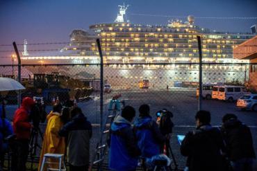 Coronavirus: la evacuación del crucero en Japón con más casos fuera de China