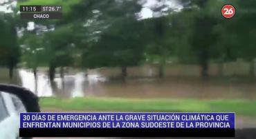 Chaco: declaran emergencia hídrica con más de 35 mil personas afectadas