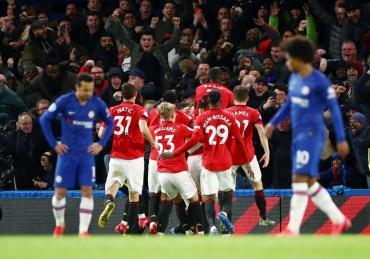 Manchester United le ganó un partidazo a Chelsea por Premier League