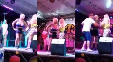 "La Bomba Tucuman increpada por peluquera trans en pleno show: ""Estoy temblando"""
