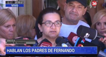 Mamá de Fernando Báez Sosa: