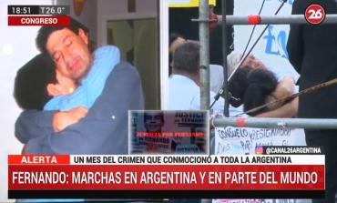Marcha por Fernando: el conmovedor video en el multitudinario pedido de Justicia