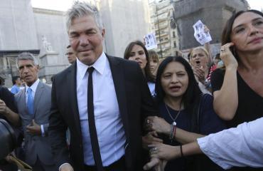 Fernando Burlando en la marcha por Fernando Báez Sosa: