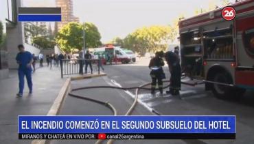Pánico en centro porteño: principio de incendio en importante hotel