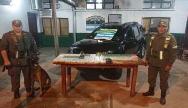 Gendarmería secuestró 42kg de cocaína en un control en Jujuy