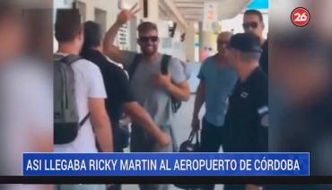Tras llegar a Córdoba, Ricky Martin preocupó a sus fans con una