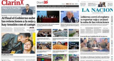 Tapas de diarios argentinos: acuerdo con gremios docentes y ministro de Salud sobre coronavirus