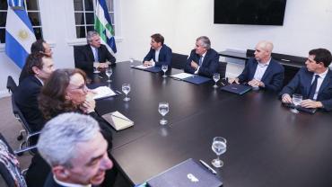 Junto a Kicillof, Larreta y Morales, Alberto Fernández anunció crédito de U$S 700 millones