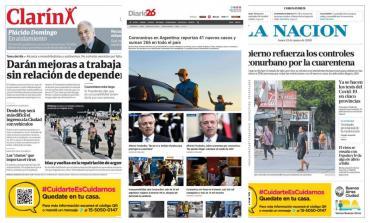 Tapas de diarios argentinos: declaraciones de Alberto Fernández sobre cuarentena por coronavirus
