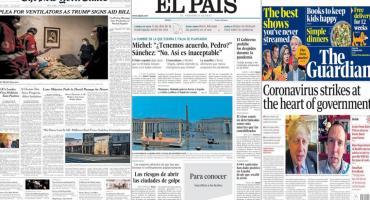 Tapas de diarios del mundo: casos de coronavirus en EE.UU. y Boris Johnson, positivo