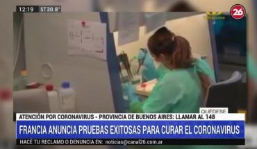 Francia anuncia pruebas exitosas para curar el coronavirus