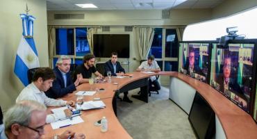 Coronavirus: Alberto Fernández evaluó situación en las provincias con gobernadores
