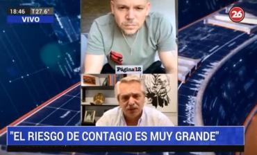 Alberto Fernández junto a René de Calle 13: