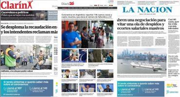 Tapas de diarios argentinos: cuarentena y coronavirus en el centro de la escena
