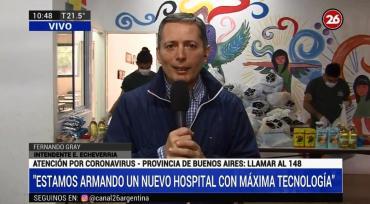 Fernando Gray, por Coronavirus: