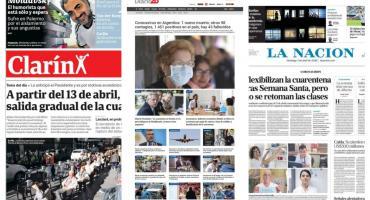 Tapas de diarios argentinos: nueva cifra de infectados y muertos en el país por coronavirus