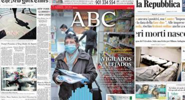 Tapas de diarios del mundo: la pandemia global de Coronavirus y salud de Boris Johnson