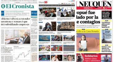 Tapas de diarios argentinos: récord de fallecidos en Argentina por coronavirus en un día