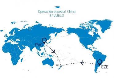 Coronavirus: así será el tercer vuelo sanitario de Aerolíneas Argentinas a China