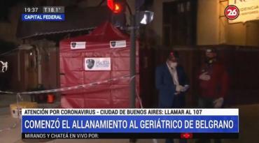 Coronavirus: allanamiento e investigación en geriátrico del barrio de Belgrano