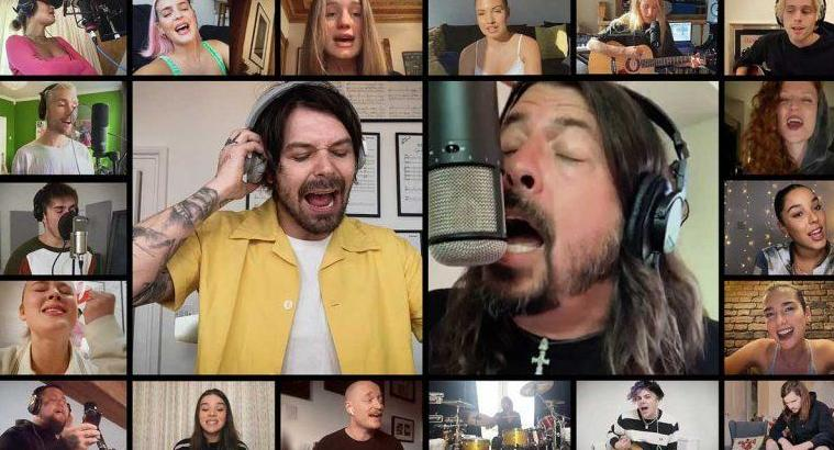 Cover solidario: Foo Fighters, Dua Lipa y Colplay deslumbran con