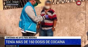 Narco taxi detenido: tenía más de 160 dosis de cocaína