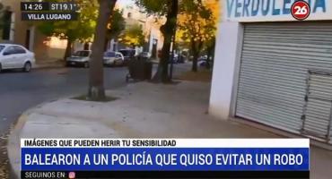 Balearon a un Policía de la Ciudad que intentó evitar un robo en Villa Lugano