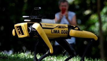 Coronavirus en Singapur: perro robot vigila los parques para evitar contagios