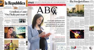 Tapas de diarios del mundo: la economía y vuelta a actividades como foco