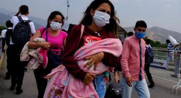 Por el coronavirus, venezolanos buscan regresar de Chile a su país