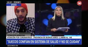 Argentino varado en Suecia por coronavirus: