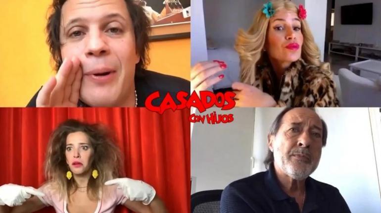 """Moni, Pepe, Paola y Coki Argento se reunieron para una """"videochantada"""" de Casados con hijos"""