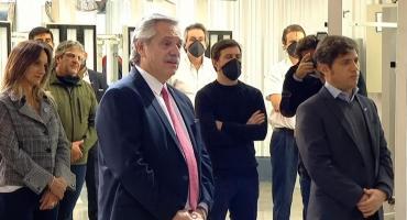 Alberto Fernández junto a Kicillof: