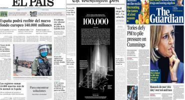 Tapas de diarios del mundo: muertos por coronavirus en EE.UU. y nuevo fondo europeo