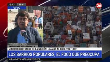 Fernando Espinoza, al frente de testeos casa por casa por coronavirus en barrio San Alberto