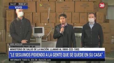 Entregaron suministros contra coronavirus en Esteban Echeverría: