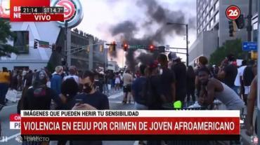 Violentos incidentes en Atlanta por muerte de George Floyd: incendios, disparos y corridas