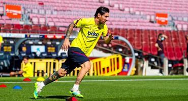 Setién sobre el estado físico de Messi: