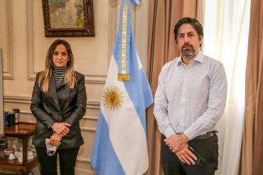 Malena Galmarini se reunió con Nicolás Trotta para darle continuidad a la creación del Instituto del Agua
