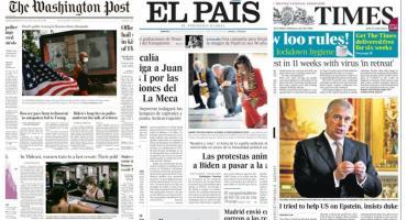 Tapas de diarios del mundo: tras tres meses, Nueva York inicia su reapertura