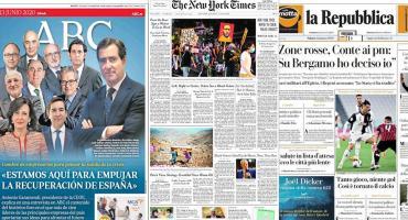 Tapas de diarios del mundo: la mirada puesta en vuelta a la normalidad tras pandemia