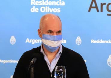 Horacio Rodríguez Larreta dio negativo en su segundo test para coronavirus