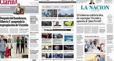 Tapas de diarios argentinos: caso Vicentin y nueva reunión por la cuarentena en el AMBA