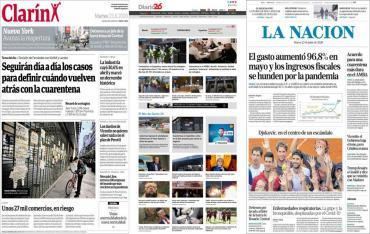 Tapas de diarios argentinos: encuentro por la cuarentena en el AMBA y crisis por coronavirus